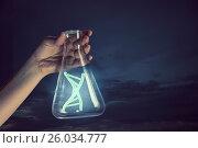 Купить «Biochemistry or genetic research . Mixed media», фото № 26034777, снято 12 марта 2014 г. (c) Sergey Nivens / Фотобанк Лори