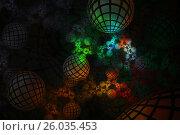 Цветные шары на темном фоне. Стоковая иллюстрация, иллюстратор Дмитрий Тищенко / Фотобанк Лори