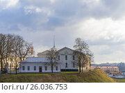 Купить «Белоруссия, город Гродно. Новый замок», фото № 26036753, снято 25 февраля 2017 г. (c) Валерий Ситников / Фотобанк Лори
