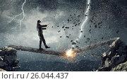 Купить «Overcome fear of failure . Mixed media . Mixed media», фото № 26044437, снято 17 марта 2014 г. (c) Sergey Nivens / Фотобанк Лори