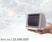 Problem of television addiction . Mixed media. Стоковое фото, фотограф Sergey Nivens / Фотобанк Лори