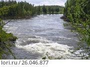 Купить «Таёжная река Казыр весной», фото № 26046877, снято 1 июня 2014 г. (c) Светлана Попова / Фотобанк Лори