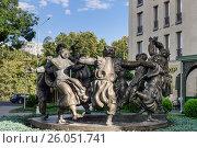 Купить «Sculptural composition Berikaoba on Baratashvili avenue in Tbilisi, Georgia», фото № 26051741, снято 25 сентября 2016 г. (c) Elena Odareeva / Фотобанк Лори