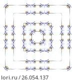 Абстрактный узор, плитка. Стоковая иллюстрация, иллюстратор Татьяна Никитина / Фотобанк Лори