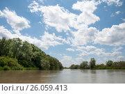 Живописные зеленые берега реки Егорлык в мае. Стоковое фото, фотограф Жанетта Багаджиян / Фотобанк Лори