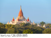 Купить «Ananda Pagoda in Bagan Myanmar», фото № 26059885, снято 26 января 2016 г. (c) Михаил Коханчиков / Фотобанк Лори