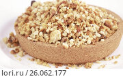 Cookie crumbs and bread. Стоковое видео, видеограф Потийко Сергей / Фотобанк Лори
