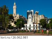 Купить «Plaza de Mayo in Buenos Aires», фото № 26062981, снято 21 февраля 2017 г. (c) Яков Филимонов / Фотобанк Лори