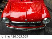 Купить «BERLIN - JUNE 14, 2015: Fragment of a compact car Innocenti Mini Cooper 1300. The Classic Days on Kurfuerstendamm.», фото № 26063569, снято 14 июня 2015 г. (c) Sergey Kohl / Фотобанк Лори