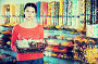 Saleswoman in sweets shop, фото № 26077625, снято 22 марта 2017 г. (c) Яков Филимонов / Фотобанк Лори