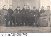 Купить «Студенты - члены бюро профсекций, 1925 год», фото № 26086705, снято 26 июня 2019 г. (c) Retro / Фотобанк Лори