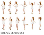 Купить «Woman in fashion clothing concept», фото № 26086953, снято 8 апреля 2014 г. (c) Elnur / Фотобанк Лори