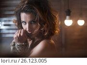 Купить «redhaired woman bondage», фото № 26123005, снято 1 мая 2017 г. (c) Анатолий Типляшин / Фотобанк Лори