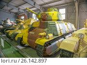 Купить «Танки вооруженных сил Франции в Центральном музее бронетанкового вооружения и техники, Кубинка», фото № 26142897, снято 1 сентября 2015 г. (c) Pukhov K / Фотобанк Лори