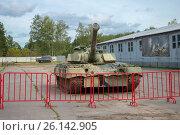 Купить «Советский основной боевой танк Т-80 в Центральном музее бронетанкового вооружения и техники, Кубинка», фото № 26142905, снято 1 сентября 2015 г. (c) Pukhov K / Фотобанк Лори