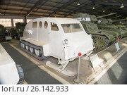 Купить «Полугусеничный снегоход Б-2  вооруженных сил Канады в Центральном музее бронетанкового вооружения и техники, Кубинка», фото № 26142933, снято 1 сентября 2015 г. (c) Pukhov K / Фотобанк Лори