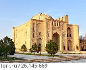 Medieval oriental structure. Узбекистан. Ханака Надир-Диван-Беги (2017 год). Стоковое фото, фотограф Владимир Приземлин / Фотобанк Лори