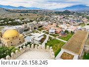 Купить «View on Rabati Castle from citadel in Akhaltsikhe, Georgia», фото № 26158245, снято 29 сентября 2016 г. (c) Elena Odareeva / Фотобанк Лори