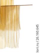 Купить «Home-made noodles are dried», фото № 26160645, снято 29 апреля 2017 г. (c) Peredniankina / Фотобанк Лори