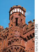 Купить «Брестская крепость. Холмские ворота», фото № 26170245, снято 21 апреля 2017 г. (c) Дмитрий Грушин / Фотобанк Лори