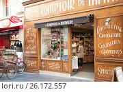 Продуктовый магазин в Бордо, Франция (2016 год). Редакционное фото, фотограф Елена Поминова / Фотобанк Лори