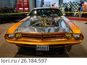 "STUTTGART, GERMANY - MARCH 03, 2017: Muscle Car Dodge Challenger Pro Street, 1970. Europe's greatest classic car exhibition ""RETRO CLASSICS"" Редакционное фото, фотограф Sergey Kohl / Фотобанк Лори"