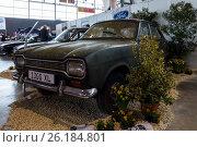"STUTTGART, GERMANY - MARCH 03, 2017: Small family car Ford Escort MK1 1300 XL, 1970. Europe's greatest classic car exhibition ""RETRO CLASSICS"" Редакционное фото, фотограф Sergey Kohl / Фотобанк Лори"