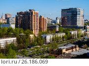 Купить «Москва, район Черёмушки, вид сверху», фото № 26186069, снято 7 мая 2017 г. (c) glokaya_kuzdra / Фотобанк Лори
