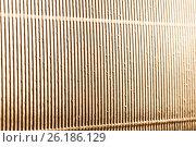 Купить «Abstract metallic gold background with stripes», фото № 26186129, снято 20 апреля 2017 г. (c) Сергей Лабутин / Фотобанк Лори