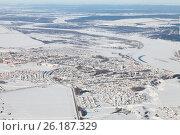 Купить «Город Дюртюли, Башкирия зимой. Вид сверху», эксклюзивное фото № 26187329, снято 4 февраля 2017 г. (c) Владимир Мельников / Фотобанк Лори