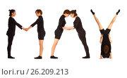 Black dressed people forming word MAY, фото № 26209213, снято 30 июля 2012 г. (c) Tatjana Romanova / Фотобанк Лори