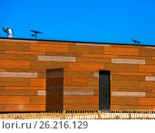 Купить «Blocks of wooden building on a street», фото № 26216129, снято 19 февраля 2019 г. (c) easy Fotostock / Фотобанк Лори