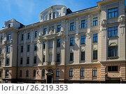 Купить «Жилой дом, декоративный югендстиль», фото № 26219353, снято 4 мая 2017 г. (c) Andrejs Vareniks / Фотобанк Лори