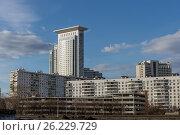 Москва, улица Стромынка, вид на высотку и пожарную каланчу. Стоковое фото, фотограф Малахов Алексей / Фотобанк Лори