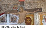 Купить «Mtsensk, Russia 15 April 2017. EDITORIAL - The glorious feast of Easter. Christ is risen.», видеоролик № 26247673, снято 15 апреля 2017 г. (c) Константин Мерцалов / Фотобанк Лори