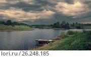 Купить «Пасмурный весенний пейзаж», фото № 26248185, снято 8 мая 2017 г. (c) Валерий Боярский / Фотобанк Лори