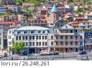 Купить «Исторический центр Тбилиси, Грузия», фото № 26248261, снято 1 мая 2017 г. (c) Сергей Афанасьев / Фотобанк Лори