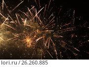Купить «Салют 9 мая 2017 года. Москва», фото № 26260885, снято 9 мая 2017 г. (c) Алексей Сварцов / Фотобанк Лори