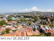 Купить «Панорама Тбилиси с высоты. Грузия», фото № 26262233, снято 1 мая 2017 г. (c) Сергей Афанасьев / Фотобанк Лори