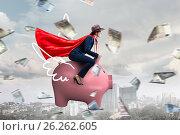 Купить «Make your savings work for you . Mixed media», фото № 26262605, снято 30 мая 2015 г. (c) Sergey Nivens / Фотобанк Лори