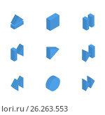 Multimedia buttons isometric, vector illustration. Стоковая иллюстрация, иллюстратор Купченко Евгений / Фотобанк Лори