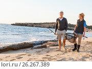 Купить «Senior man fishing with his grandson», фото № 26267389, снято 15 апреля 2015 г. (c) Sergey Nivens / Фотобанк Лори