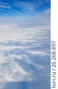 Купить «Гыданская тундра зимой, вид сверху», фото № 26268897, снято 27 марта 2017 г. (c) Владимир Мельников / Фотобанк Лори
