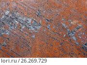Купить «old metal iron rust texture», фото № 26269729, снято 10 мая 2017 г. (c) Иван Карпов / Фотобанк Лори