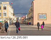 Купить «Белоруссия, город Гродно. Старые улицы», фото № 26295081, снято 25 февраля 2017 г. (c) Валерий Ситников / Фотобанк Лори