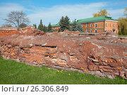 Купить «Брестская крепость. Руины Белого дворца», фото № 26306849, снято 21 апреля 2017 г. (c) Дмитрий Грушин / Фотобанк Лори