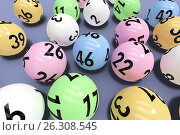 Купить «Composite image of colourful lottery balls», иллюстрация № 26308545 (c) Wavebreak Media / Фотобанк Лори