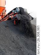 Черный каменный уголь. Стоковое фото, фотограф Анатолий Бутырин / Фотобанк Лори