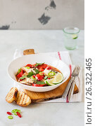 Купить «Tomato and Coconut Milk Fish Stew», фото № 26322465, снято 18 мая 2017 г. (c) Татьяна Ворона / Фотобанк Лори