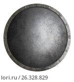 Купить «Medieval round shield isolated 3d illustration», иллюстрация № 26328829 (c) Андрей Кузьмин / Фотобанк Лори